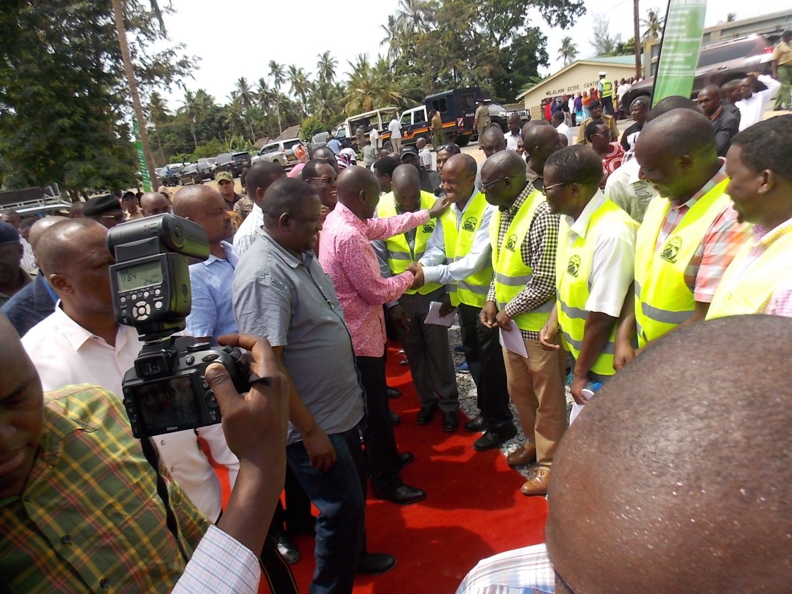 Milalani Mivumoni Kilulu road launch in Kwale on 17th March 2018
